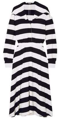 Calvin Klein Striped Stretch-Crepe Midi Dress