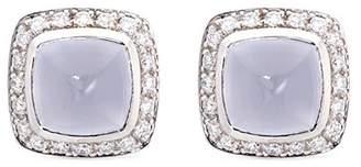 Pain De Sucre Fred Pain de Sucre' diamond chalcedony stud earrings