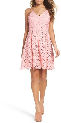Women's Adelyn Rae Lace Fit & Flare Dress $128 thestylecure.com