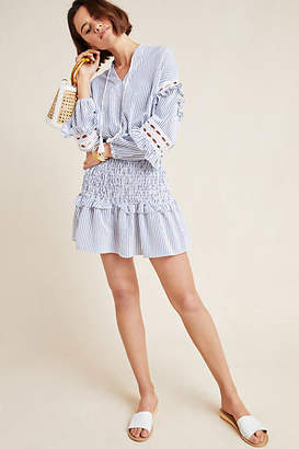 Central Park West Claudia Smocked Tunic Dress