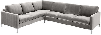 One Kings Lane Amia Left-Facing Sectional - Light Gray Crypton