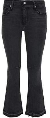 RtA Distressed Mid-Rise Kick-Flare Jeans