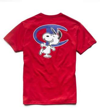 Todd Snyder + Champion Champion X Peanuts Short Sleeve Snoopy C Graphic T-Shirt in Red