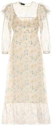 Rochas Floral-printed silk dress