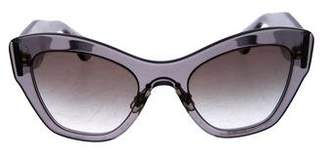 Miu Miu Cat-Eye Logo Sunglasses