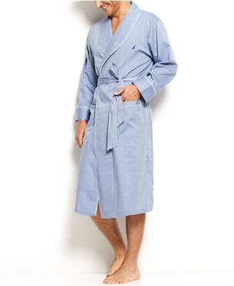 Nautica (ノーティカ) - Nautica Herringbone Woven Shawl Collar Robe
