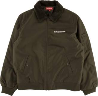 Supreme Independent Fur Collar Bomber - 'FW 17' - Brown