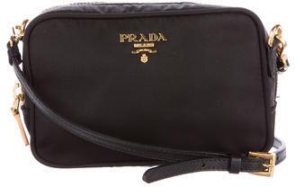 pradaPrada Saffiano-Trimmed Tessuto Crossbody Bag