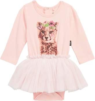 Rock Your Baby Floral Cheetah Circus Tutu Bodysuit