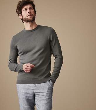 Reiss MAURICE CREW NECK JUMPER Sage