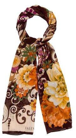 ValentinoValentino Silk Floral Print Scarf w/ Tags
