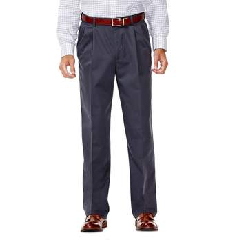 Haggar Men's Work to Weekend Classic-Fit Pleated Expandable Waist Pants