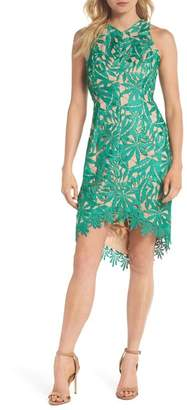 Adelyn Rae Neve High\u002FLow Lace Sheath Dress