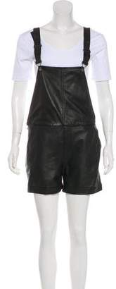 Rag & Bone Leather Short Overalls