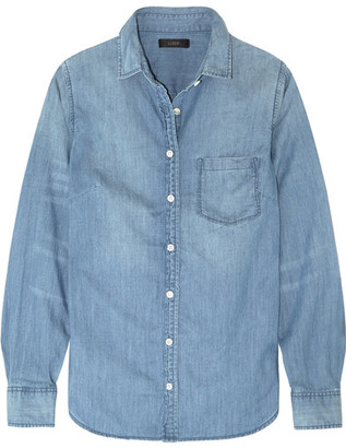 J.Crew - Always Cotton-chambray Shirt - Light denim $80 thestylecure.com