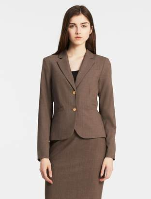 Calvin Klein two button heather taupe suit jacket