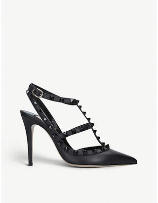 Valentino Noir 100 studded leather courts