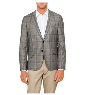 HUGO BOSS 2B Sb Cv Wool Plaid Check Deco Jacket