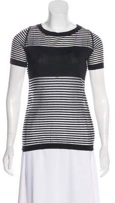 Versus Striped Short Sleeve Top
