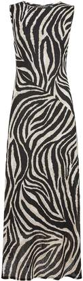 Dorothy Perkins Womens **Tall Black Zebra Print Sleeveless Midi Dress