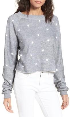 Women's Wildfox Football Star Monte Crop Sweatshirt $108 thestylecure.com