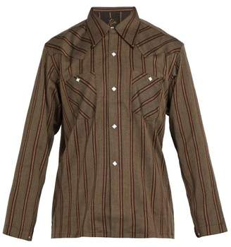 Needles - Striped Shirt - Mens - Brown