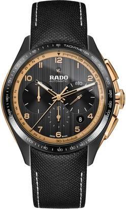 Rado HyperChrome Ceramic Automatic Chronograph Leather Strap Watch, 45mm