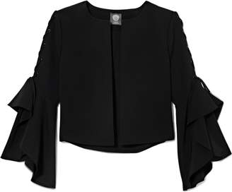 Vince Camuto Laced Statement-sleeve Jacket