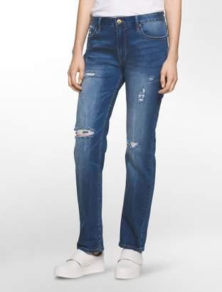 Calvin Klein girlfriend fit halsey blue jeans