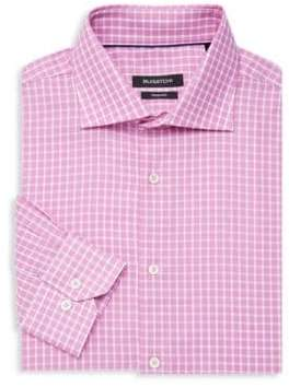 Bugatchi Shaped-Fit Cotton Dress Shirt