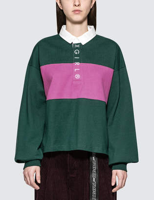 X-girl X Girl Cropped Rugby Shirt