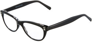 A.J. Morgan Candidate Cat-Eye Acetate Readers, Black $36 thestylecure.com