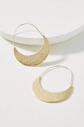 Anthropologie Crescent Hoop Earrings