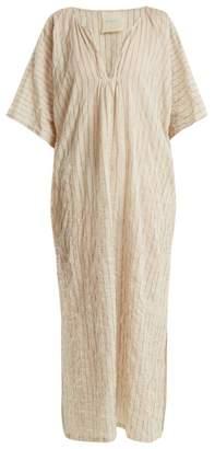 Loup Charmant - Belek Striped Cotton Kaftan - Womens - Cream Multi