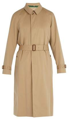 Burberry Car Cotton Gabardine Coat - Mens - Camel