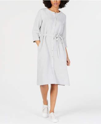 Eileen Fisher Belted Shirtdress