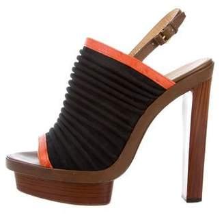 Balenciaga Canvas Slingback Sandals