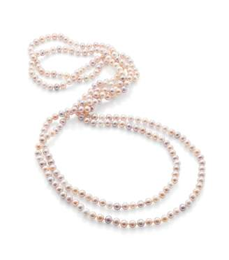 """7-8mm Multi Freshwater Pearl 80"""" Rope Necklace"""