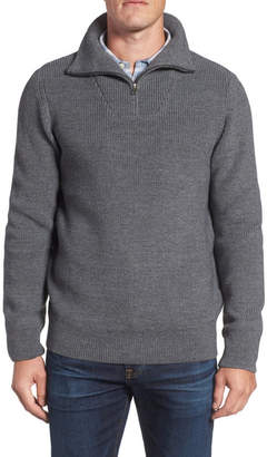 Nordstrom Ribbed Quarter Zip Sweater