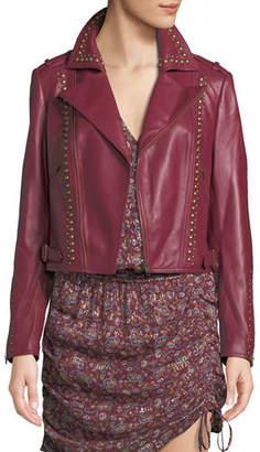 Ramy Brook Yomo Studded Leather Moto Jacket