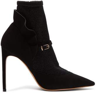 Sophia Webster Lucia lurex-panelled suede ankle boots