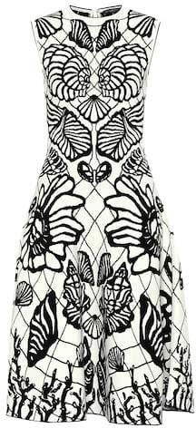 Jacquard knit dress