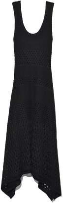 Proenza Schouler Sleeveless Dress with Handkerchief Hem in Black