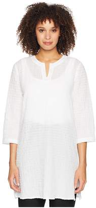 Eileen Fisher Split-Neck Tunic Women's Long Sleeve Pullover