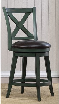 Unbrended Bailey Counter Height Swivel Stool, Green