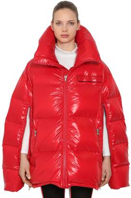 Calvin Klein Oversized Open Sleeves Nylon Down Coat