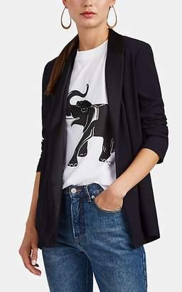 Lanvin Women's Satin-Trimmed Crepe Open-Front Blazer - Black