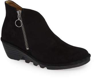 Fly London Poro Wedge Bootie