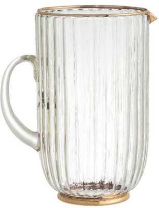 Textured Glass Pitcher