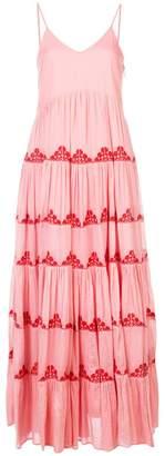 Carolina K. pleat detail maxi dress